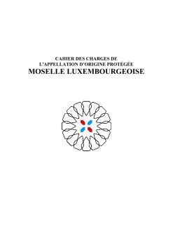 CAHIER DES CHARGES AOP-MoselleLuxembourgeoise